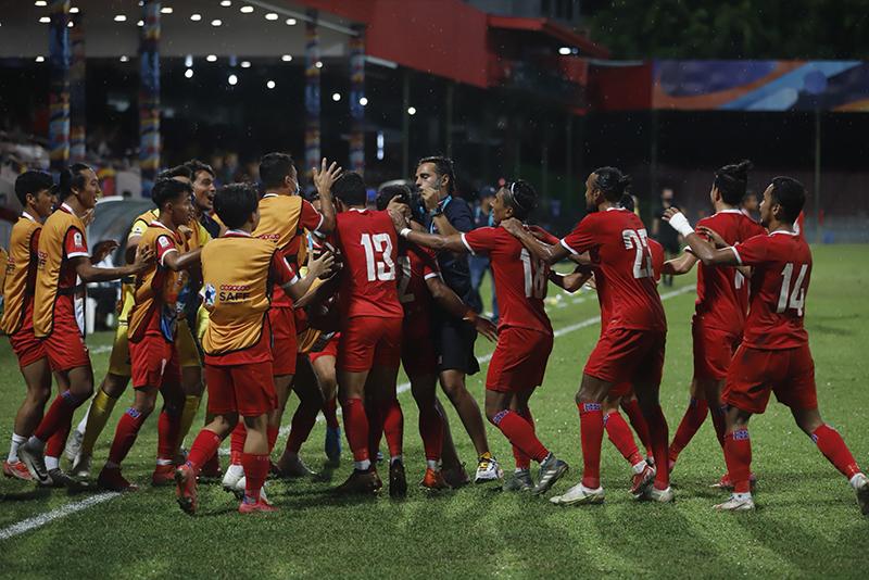साफ च्याम्पियनसिप फुटबल स् नेपाल फाइनलमा पुग्ने सम्भावना बलियो