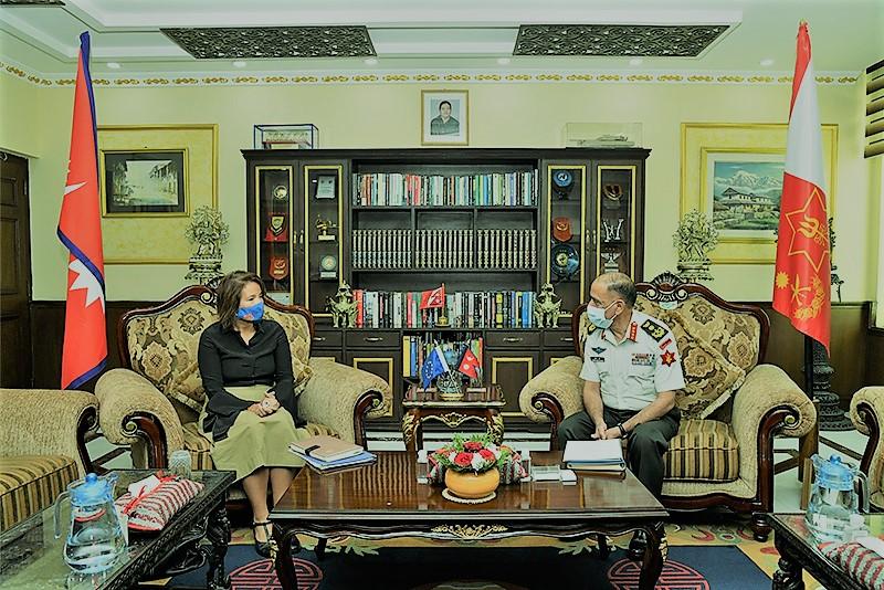प्रधानसेनापति र युरोपेली संघका राजदूतबीच भेट